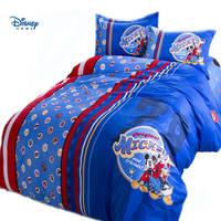blue disney mickey mouse cartoon comforter bedding set queen size twin full king size bedspread Children's couple boys bedroom