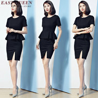 womens business suits women elegant skirt suits one piece peplum summer round neck women office skirt suit XXXL AA2342 YQ