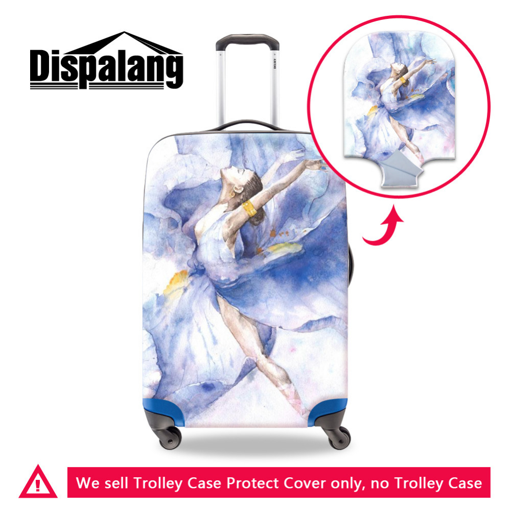 Dispalang Ballet Girls Luggage Protective Dust Cover Elastic Stretch Suitcase Cover For 18 30 Inch Case Women Travel Accessories