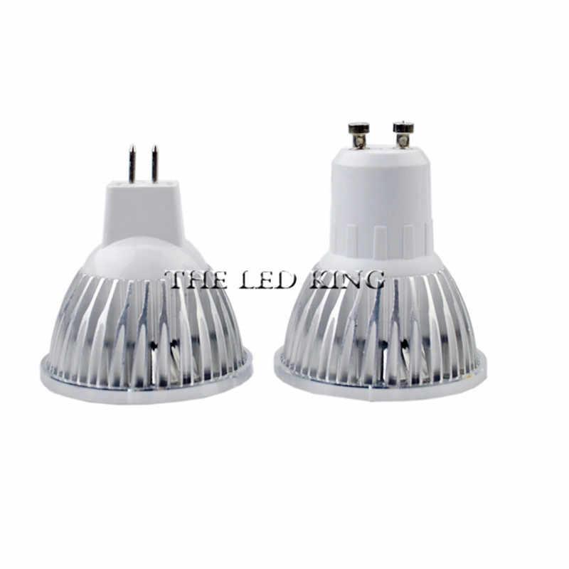LED ספוט אור GU10 15W 220 V/110 V MR16 12V led מנורת COB שבב קרן זווית 120 18W זרקור LED הנורה Downlight מנורת שולחן