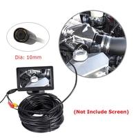 2018 AV Endoscope Mini Camera 12V 10mm Dia 20m Length IP66 Waterproof 6 LED Snake Inspection Borescope Pipe Cam NO Screen
