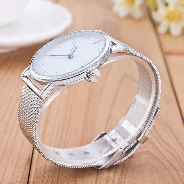 Tempter 2017 Famous Brand Gold Silver Casual Quartz Watch Women Mesh Stainless Steel Dress Women Watches Relogio Feminino Clock
