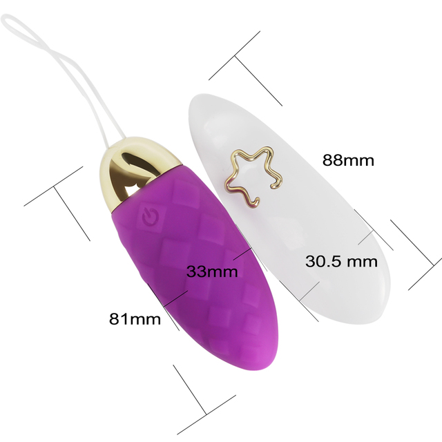 IKOKY Vibrator Sex Toys for Woman Waterproof Wireless Remote Control 10 Frequency Vibrating Egg USB Rechargeable Silicone