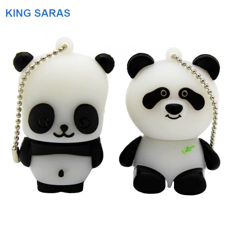 KING SARAS Cartoon 64GB China Giant Panda Model Usb Flash Drive Usb 2.0 4GB 8GB 16GB 32GB Gift Pendrive