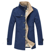 2019 New Autumn and winter Brand Mens Woolen Coat Design Men High Quality Fashion long sleeves Masculino coat Leisure Jackets