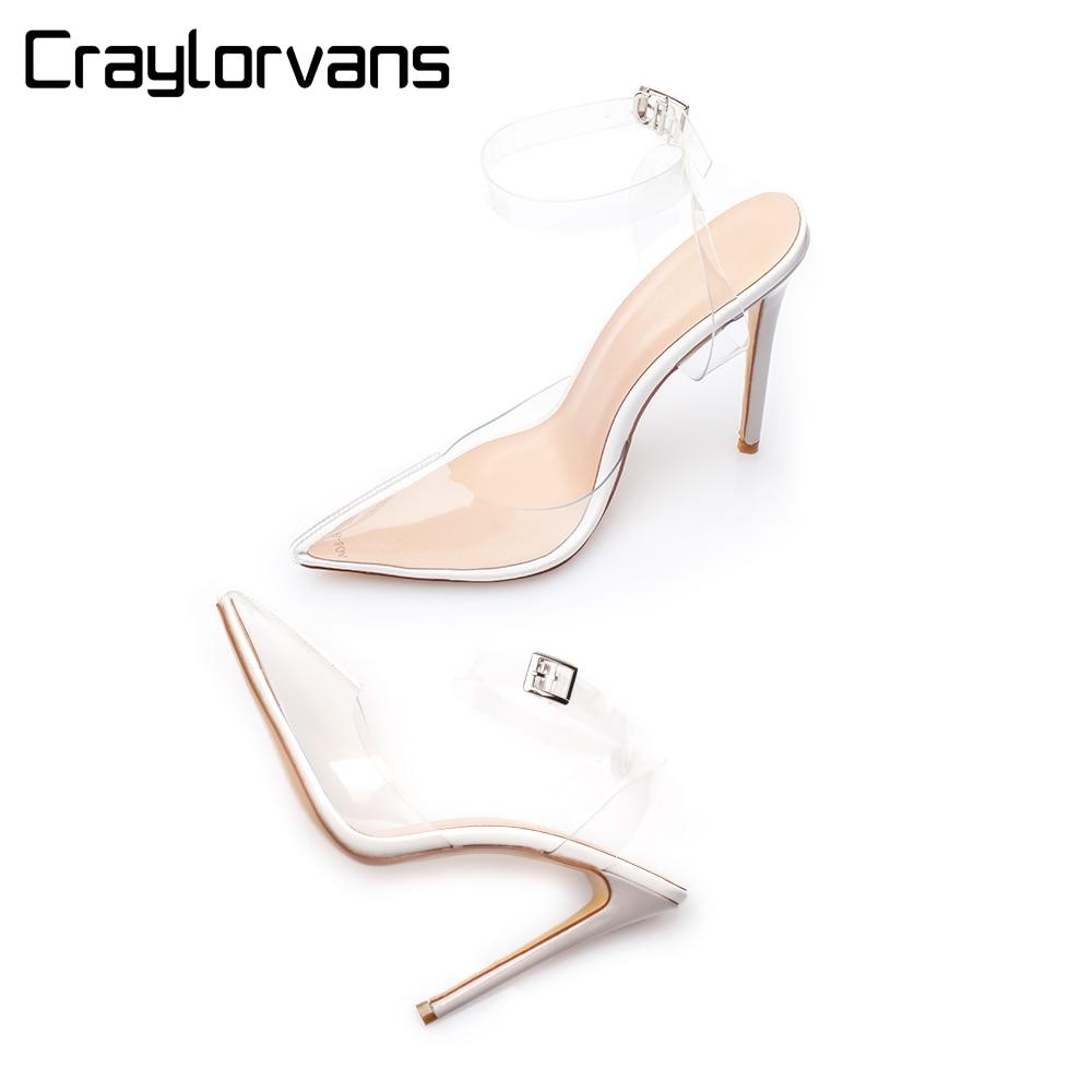 Tacones Craylorvans Parti Transparent Mode Talons Hauts Sandales 5L3jAR4