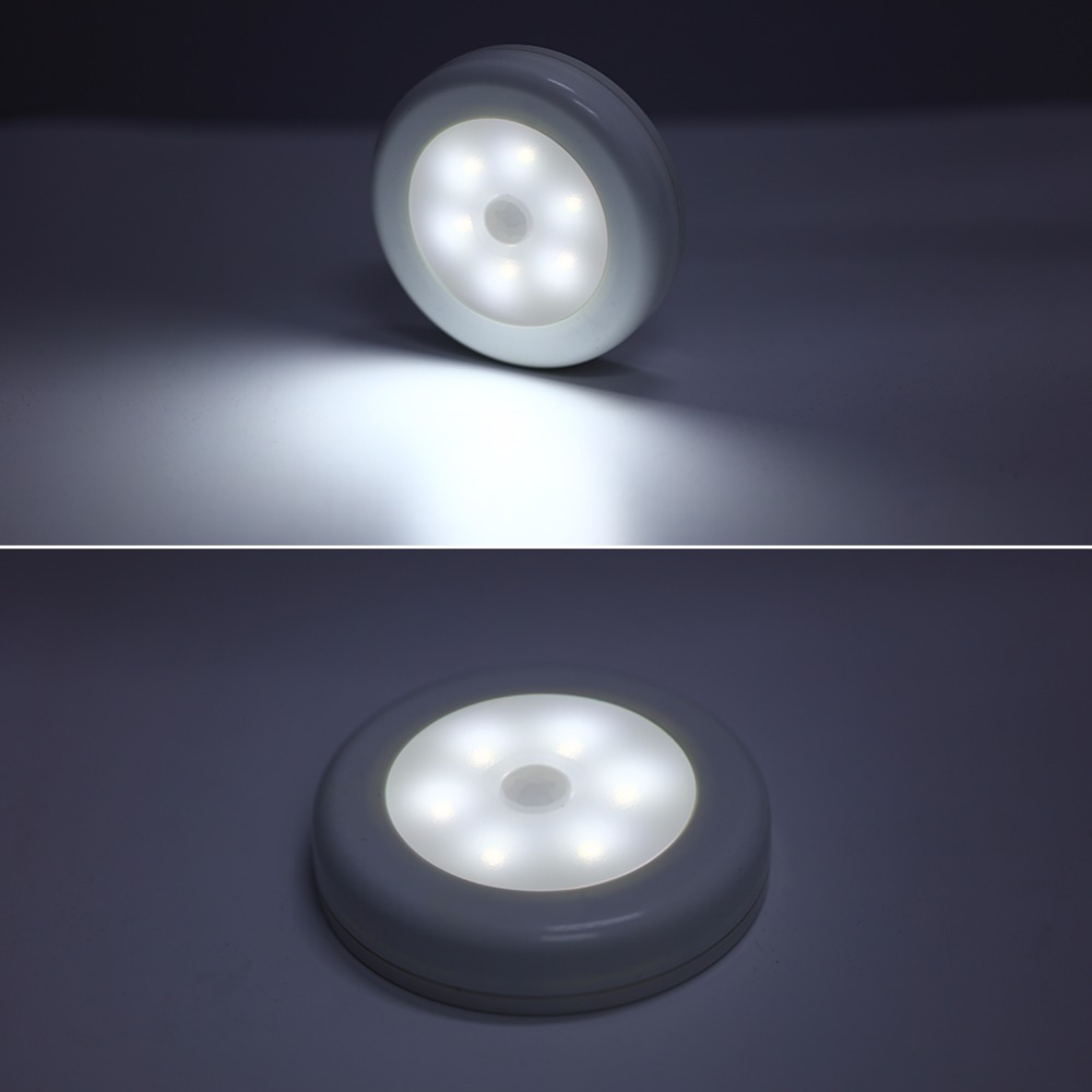 6 LED PIR Body Motion Sensor Activated Wall Light Night Light Induction Lamp Closet Corridor Cabinet led Sensor Light battery four leaf clover pir motion sensor led night light smart human body induction novelty battery usb closet cabinet toilet lamps