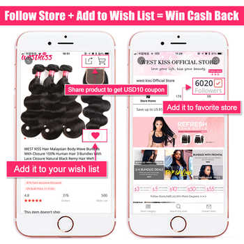 West Kiss Blue Hair 3 Bundles With Closure Dark Roots Two Tone Ombre Brazilian Body Wave Human Hair Weft With Lace Closure Remy