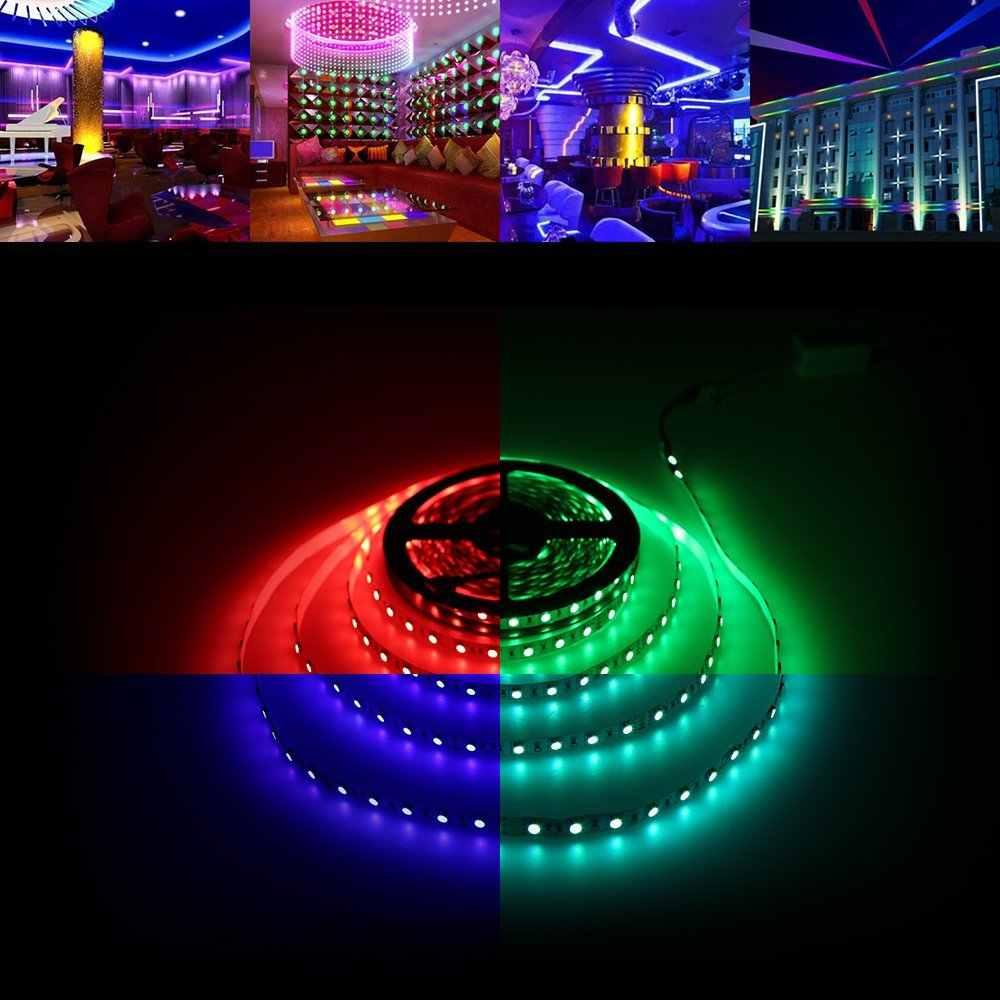 5 M taśmy LED 5050 RGB światła RGBW 12 V elastyczne oświetlenie do dekoracji domu SMD 5050 wodoodporna taśma led biała dioda LED pasek pasek neon