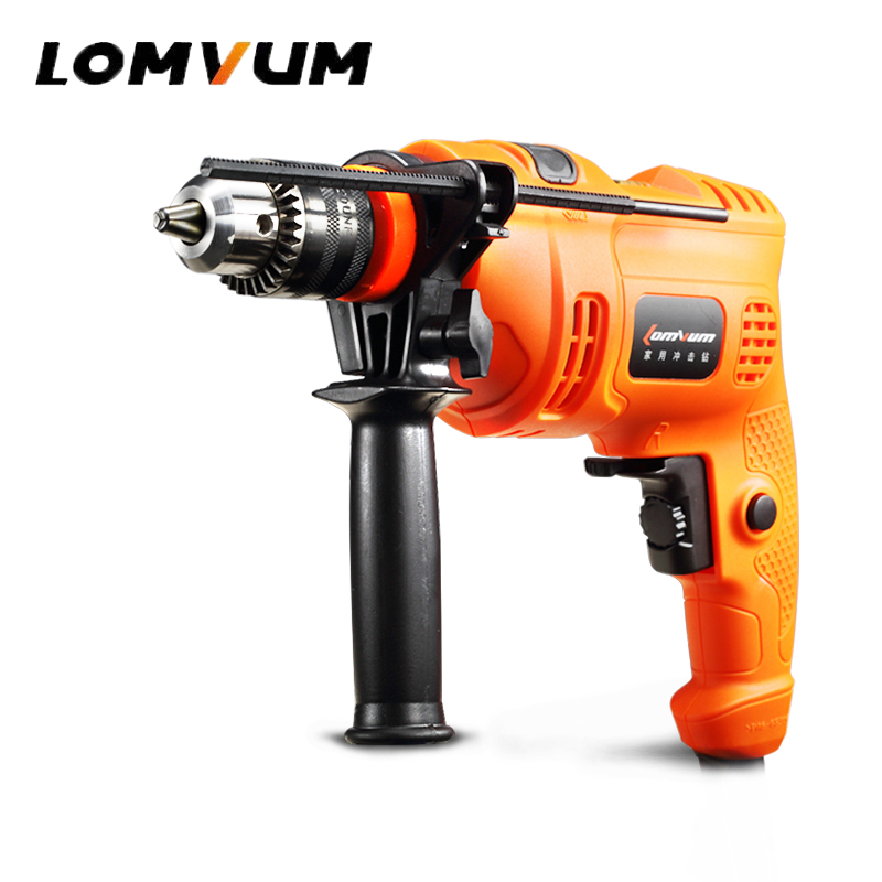 LOMVUM Impact Drill 500W Household Hammer Drill Home Power Tools Multifunction Rotary Tool Longyun Electric Drill Screwdriver 13LOMVUM Impact Drill 500W Household Hammer Drill Home Power Tools Multifunction Rotary Tool Longyun Electric Drill Screwdriver 13
