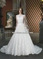Невесты Бесплатная доставка платье vestido de noiva casamento 2018 новые модные длинные пользовательские старинные кружева бальное свадебное платье Мат