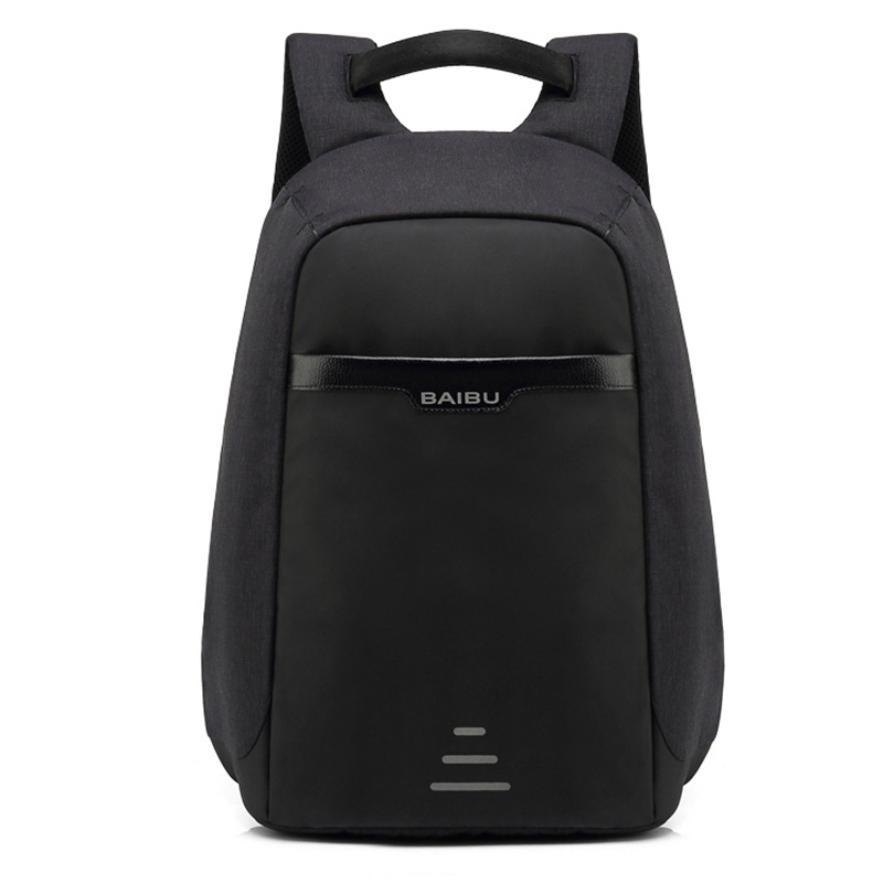 BAIBU School Backpack USB Charge 15.6 inch Laptop Backpacks Men Waterproof Fashion Casual Business Male Bag Travel Backpack backpack fashion student school bag backpacks for 15 6 inch laptop bag men backpacks casual waterproof high capacity travel bags