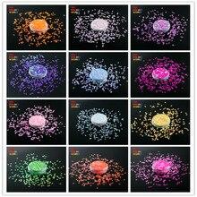 TCT 133 perłowy Indescent kolor ryż kształt do paznokci brokat paznokci dekoracje artystyczne makijaż Facepainting instrukcja DIY dekoracje