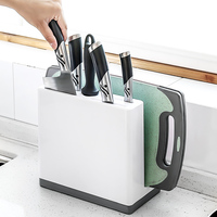 New Arrivals Sale Kitchen Accessories Knives and Cutting Board Storage Rack Plastic Block Multifunctional Knife Holder