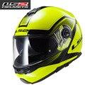 Envío gratis nuevo doble lente LS2 FF325 capacetes casco de moto casco integral cascos de Moto Flip 100% Genuino