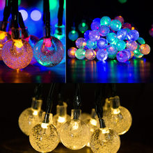 Retro Christmas lamp flashing solar string light 20leds romatic holiday fairy Xmas wedding party Waterproof String bulb