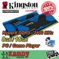 Kingston Hyperx Depredador de escritorio memoria RAM DDR3 8 GB 16 GB 2400 MHz PC3 19200 No 240 Pin DIMM de memoria ram del ordenador de computador pc