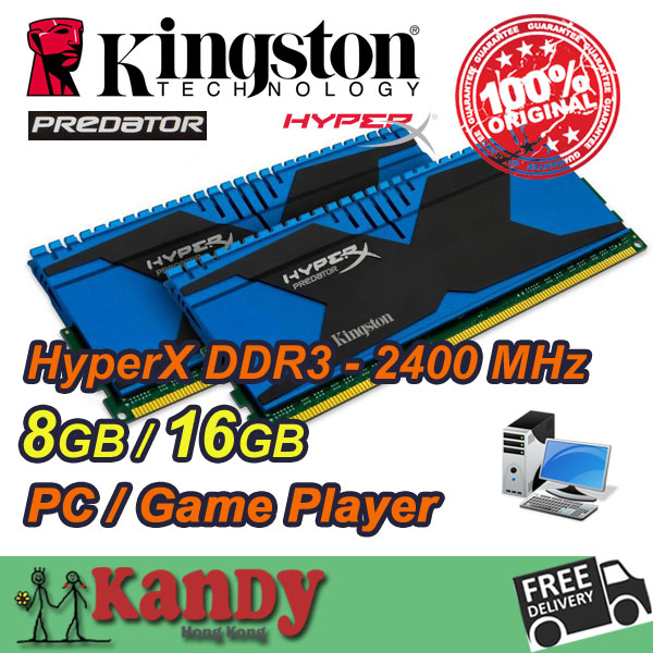 все цены на  Kingston Hyperx Predator desktop memory RAM DDR3 8GB 16GB 2400 MHz PC3 19200 Non 240 Pin DIMM memoria ram computer computador pc  онлайн