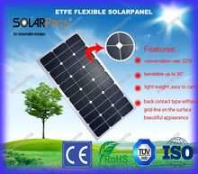 Solarparts 100w 18V solar panel solar module  ETFE high power 25 year life flexible solar panel for RV boat yacht car