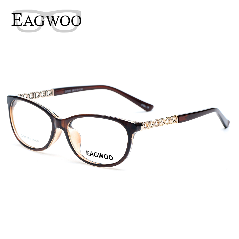 ef2df14a9a Acetate TR90 Women Female Eyeglasses Full Rim Optical Frame Prescription  Spectacle Light Clear Eye Glasses 22050 Navy Brown
