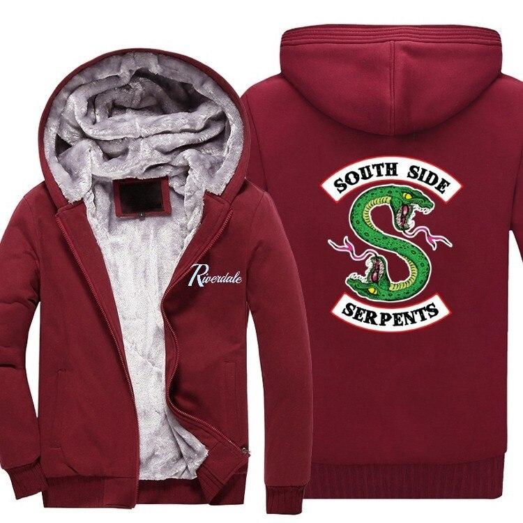 Men's Clothing Active 2018 New Hot New Mens Thick Hoodies Riverdale South Side Serpents Coat Men Jacket Men Winter Clothes