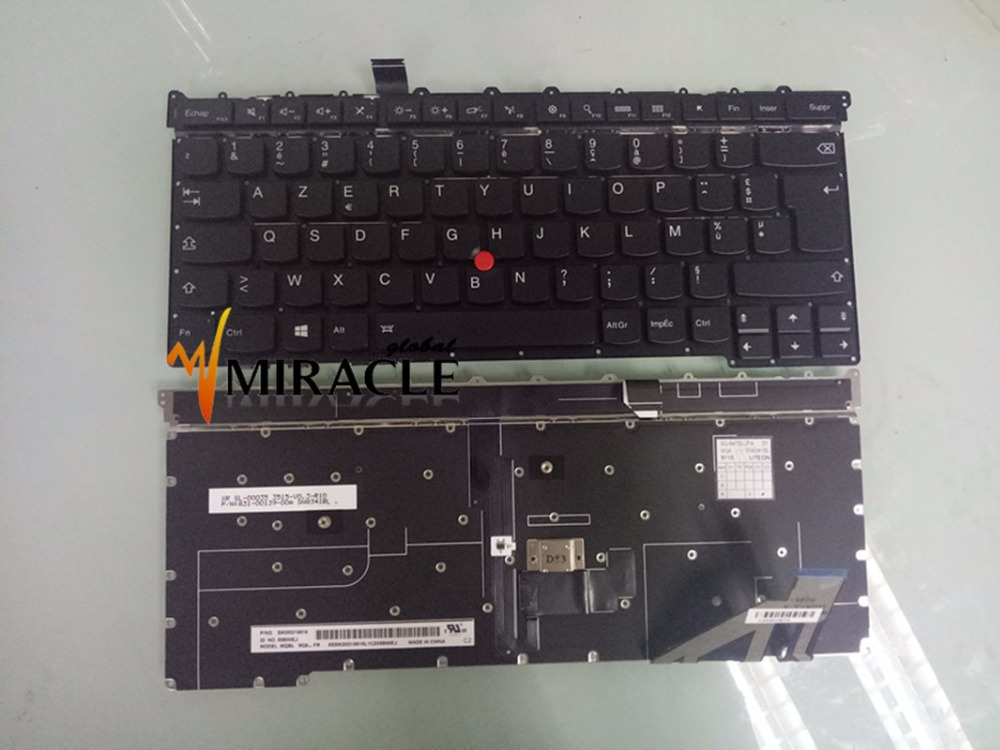 Laptop Keyboard For Lenovo for IBM X1 Carbon Gen 3 3rd 2015 FR French language with backlit backlight brand New Upper case image