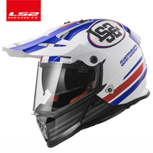 LS2 MX436 внедорожный мотоциклетный шлем с солнцезащитным покрытием мото-кросс Мото Кросс шлем двойной объектив гоночный мото ECE Сертификация
