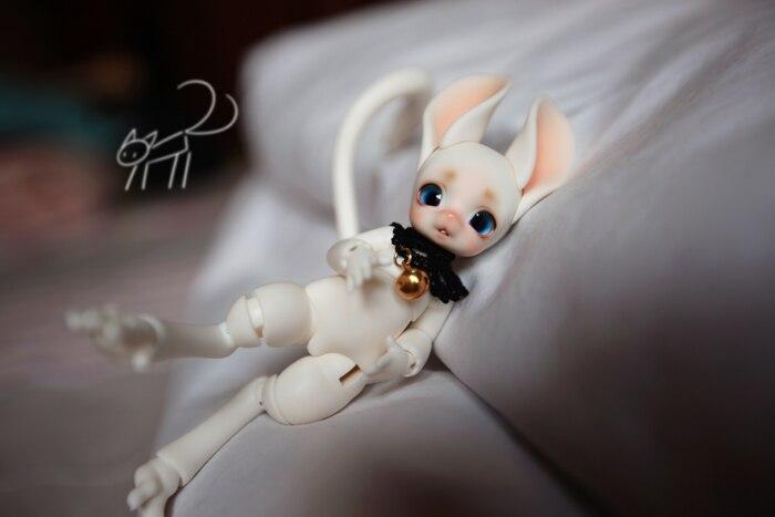 Hehebjd jerboa doll 1/8 바디 모델 baby girls boys 인형 눈 고품질 장난감-에서인형부터 완구 & 취미 의  그룹 1