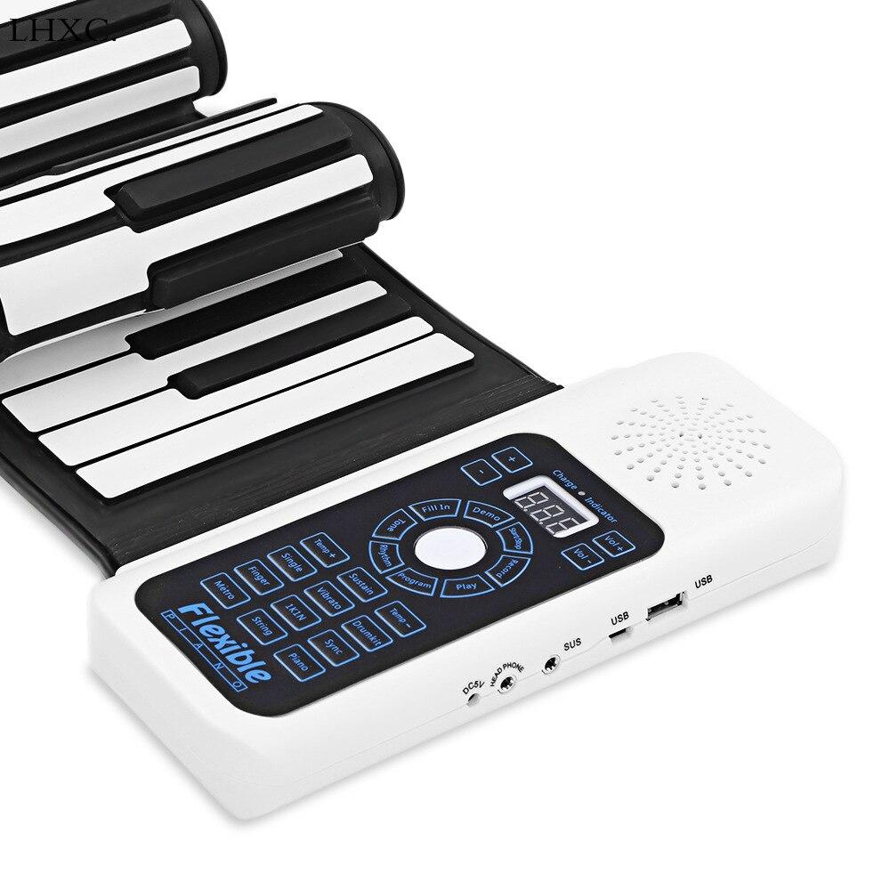 Piano à main électronique 88 touches 61 touches clavier contrôleur midi épaissi clavier débutant Portable rouler Piano musical