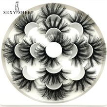 SEXYSHEEP 7/8 çift 25mm 3D sahte vizon Lashes doğal uzun yanlış kirpik hacmi takma kirpik makyaj uzatma kirpik maquiagem