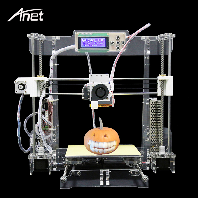 Anet Upgraded A8 Transparent 3D Printer Reprap Prusa i3 DIY 3D Printer Kit FDM Tech Aluminum Hotbed Gift Filament 8GB SD card easy assemble anet a6 a8 3d printer kit high precision reprap prusa i3 diy 3d printing machine hotbed filament sd card lcd