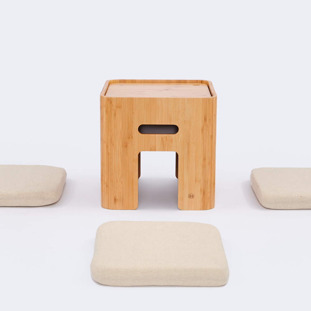 Free shipping BAMBOO Storage Ottoman Stool Japanese Coffee Table Small Table Home Funiture