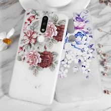 Red Purple Rose Silicone Phone Case For Nokia 3.2 4.2 7.1 2.1 3.1 5.1 8 7 3 5 9 6 2 6.1 8.1 X71 Plus X5 X6 Back Cover(China)
