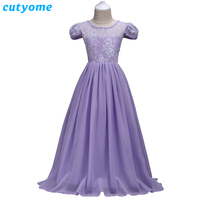 Pageant Dresses for Girls 10 Years Clothing Cutyome Christmas Chiffon Maxi Dress for Teenagers Vintage Children Evening Dresses