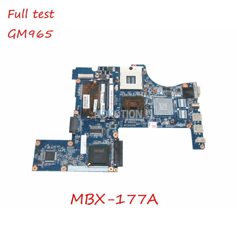 A1337184A DAGD1AMB8C0 MBX-177A REV C Laptop Main board for SONY VAIO VGN-CR203E MOTHERBOARD GM965 <font><b>DDR2</b></font> free cpu full tested image