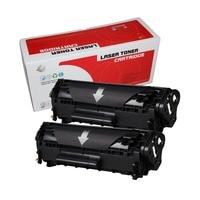 2 PCS 12a 2612 Q2612A q2612 2612a cartucho de toner compatível para hp laserjet 1010 1020 1015 1012 3015 3020 3030 3050 impressora