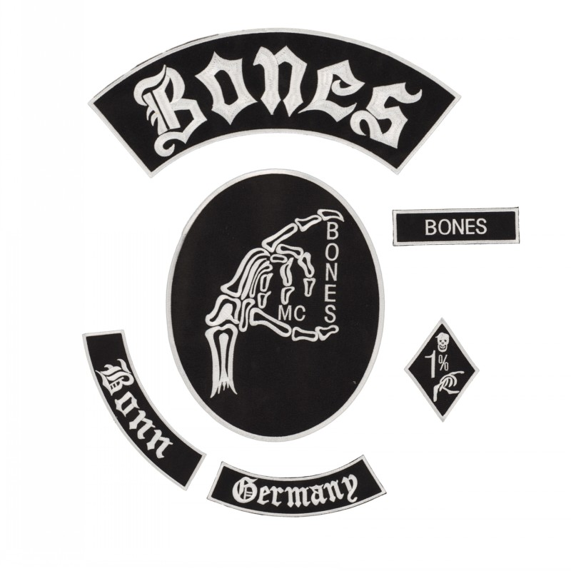 Bone MC New Punk Embroidered Iron On Patches For Clothes