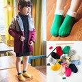 Nuevo Doble del color del mosaico niños calcetines niños calcetín de Algodón transpirable niños niñas marca Calcetines Para 1-5 Años de Edad 14-255