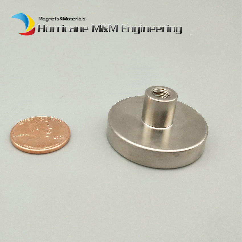 4-120pcs Cup Mounting Magnet Dia 32mm Lathed Magnetic Pots with Female Thread Neodymium Permanent Strong Holding Magnet 2pcs mounting magnetic disc diameter 88 mm led light holding spotlight holder male thread ndfeb magnet strong neodymium magnet