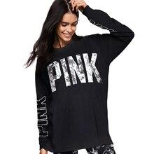 Women Hoodie Long Sleeve Loose Vs Pink Sweatshirts Women Tracksuits Tops Print Pink Hooded Hoodies Autumn Sweatshirts P53 Z15