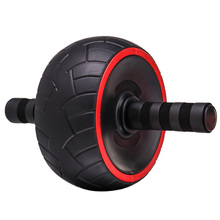 TOP!-Roller No Noise Arm Strength Exercise Body Building Fitness Abdominal Wheel Trainer Roller body exercise arm strength fitness tool black deep pink