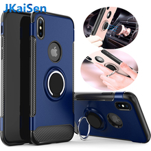 Luxury Case for Apple iPhone 6 6S 7 8 Plus Car Holder Stand Magnetic Suction Bracket Finger Ring Soft TPU Cover for X XR XS MAX цена и фото
