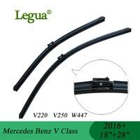 Legua Wiper Blades For Mercedes Benz V Class V220 V250 W447 2016 18 28 Car Wiper