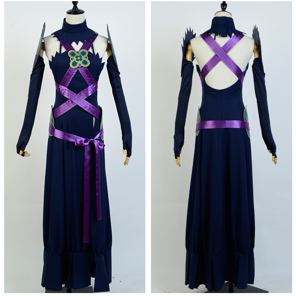 Fire Emblem IF Fates Aqua Diva Night Dress Sexy Costume Custom Made Free Shipping Full Sets