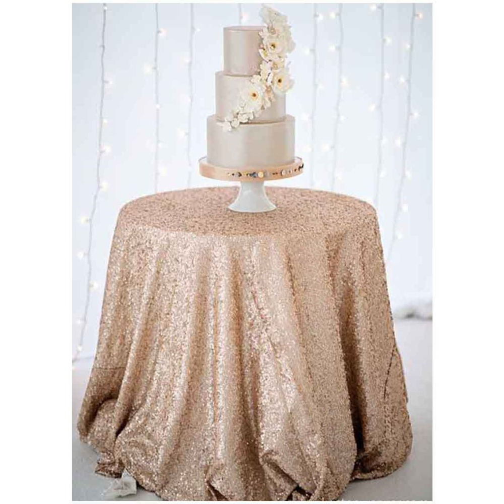 new arrival sparkly 90inch sequin tablecloth wedding sequin table cloth for decor