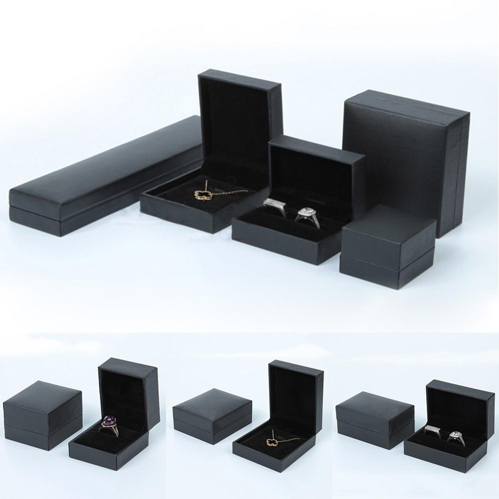 5 Styles Box Wholesale Velvet Engagement Wedding Earring Ring Boxs Pendant Necklace Jewelry Display Storage Foldable Case