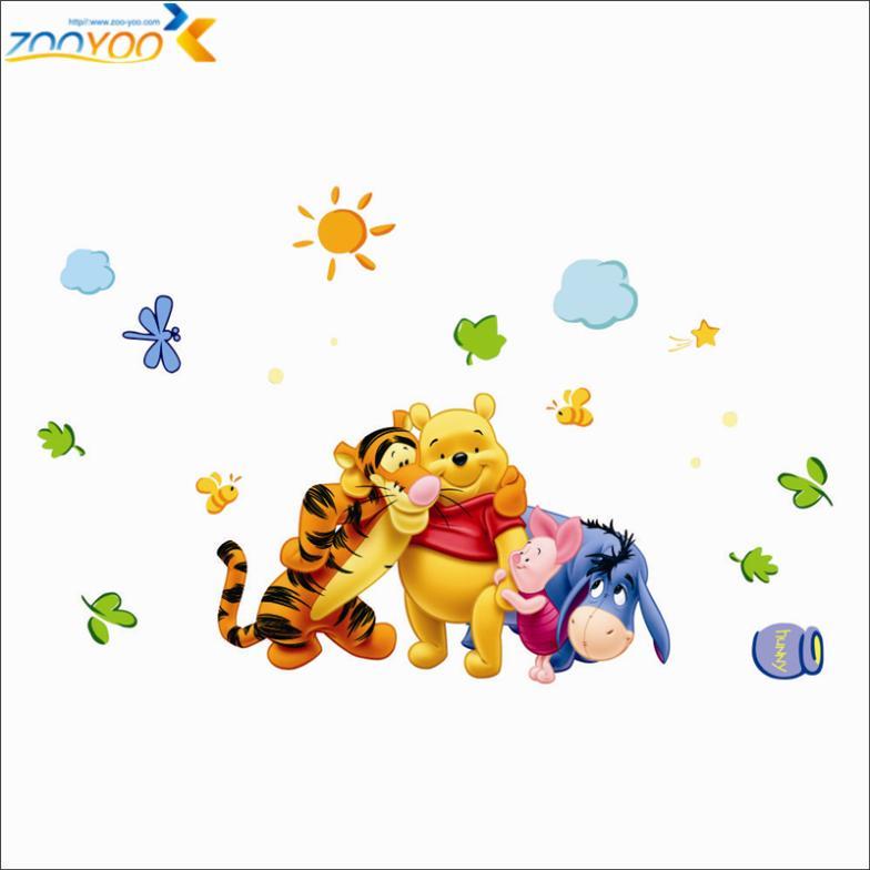 winnie the pooh φίλους τοίχο decals για παιδιά - Διακόσμηση σπιτιού - Φωτογραφία 4