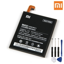 Xiao Mi Original BM32 Battery For Xiaomi 4 M4 Mi4 Genuine Replacement Phone 3080mAh With Free Tools