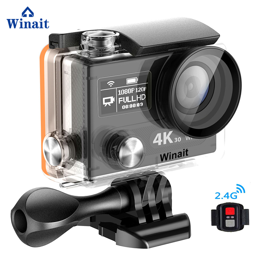 Winait Updated Version Action Camera 4k H8pro HD 720P 200fps Mini Sports DV WIFI Cam 30Meters Underwater Swimming Diving