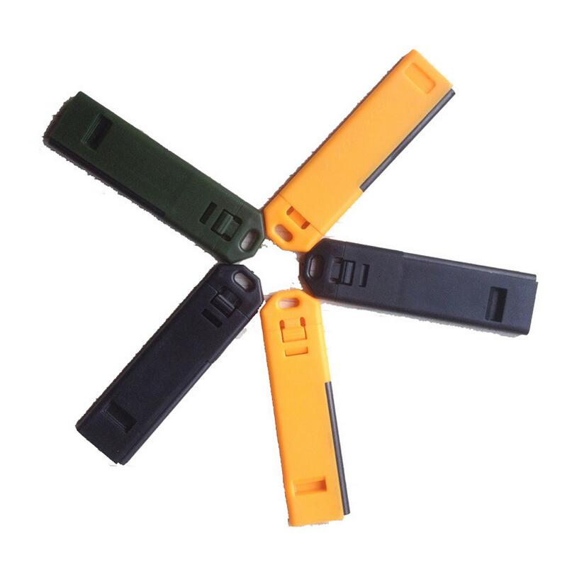 Ultra thin portable outdoor take firearms with multifunction surviving kit outdoor survival whistle flint fire starter